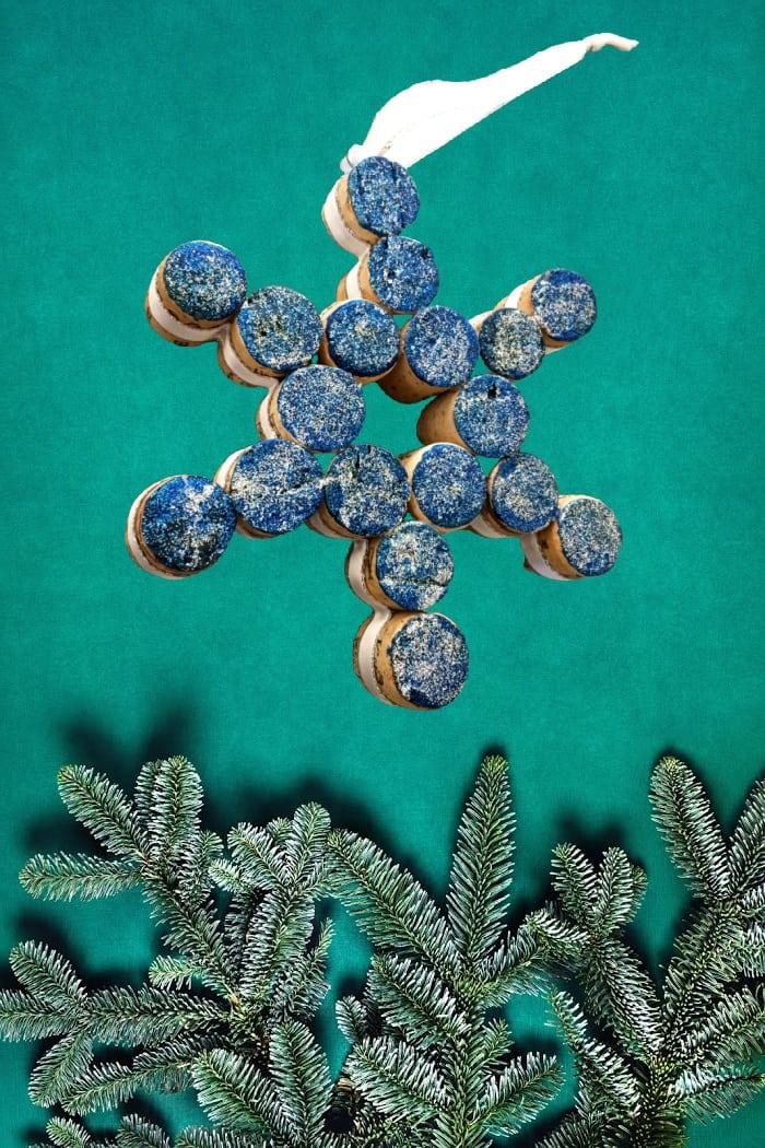 Blue Snowflake Ornament