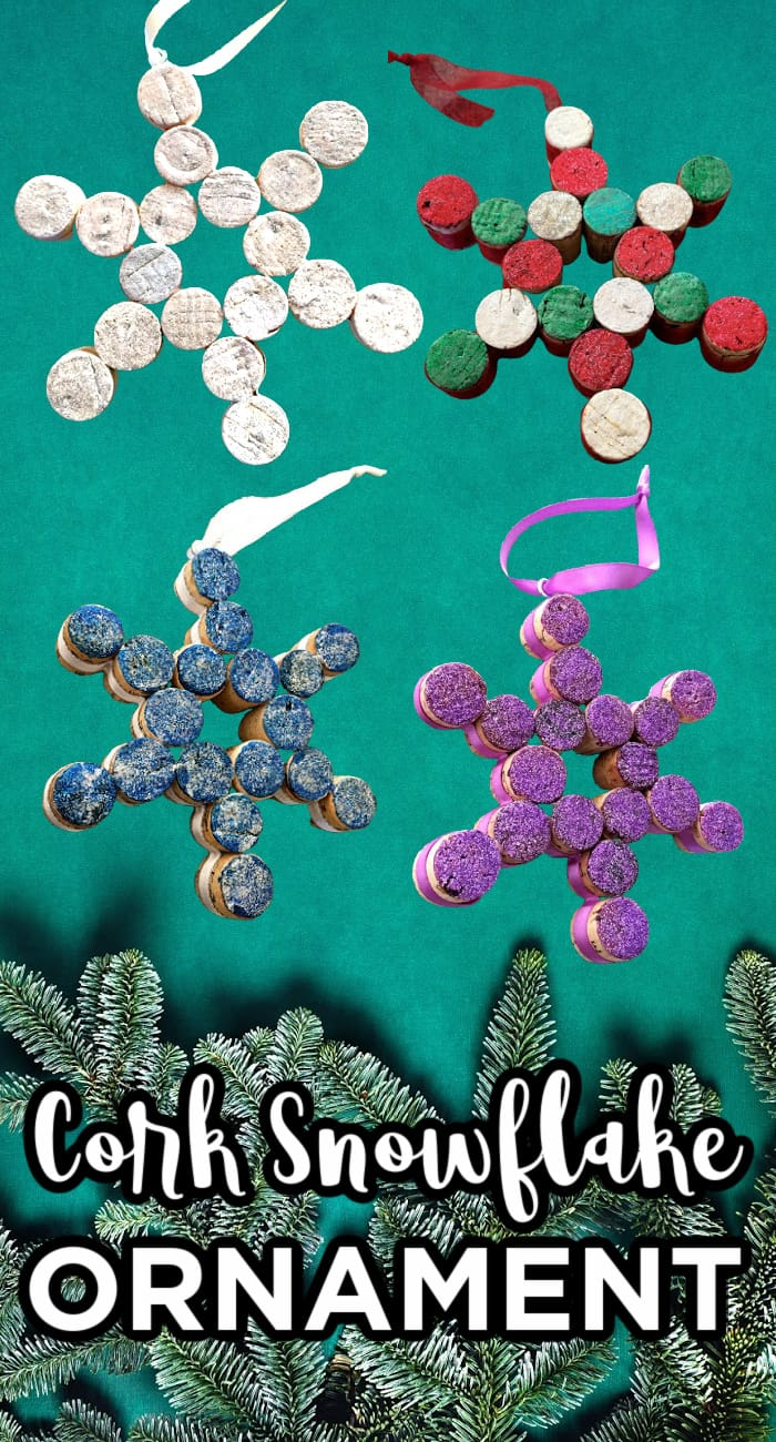 Cork Snowflake Ornaments
