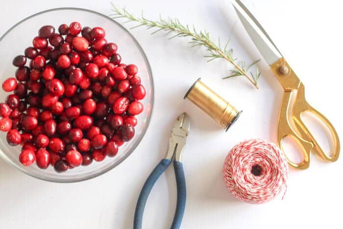 Cranberry Rosemary Christmas Napkin Rings Made With Happy