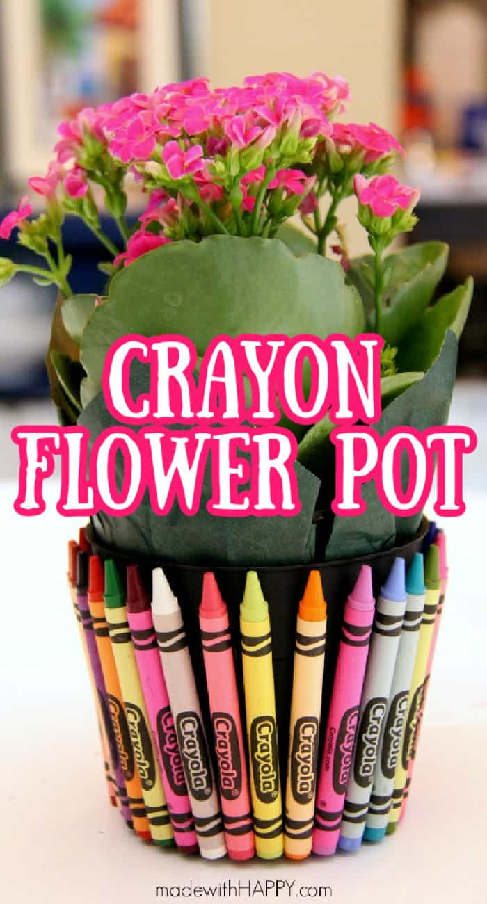 crayon flower pot