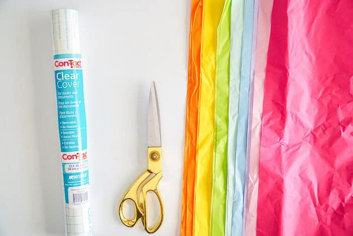 Tissue Paper Suncatcher Craft Supplies.