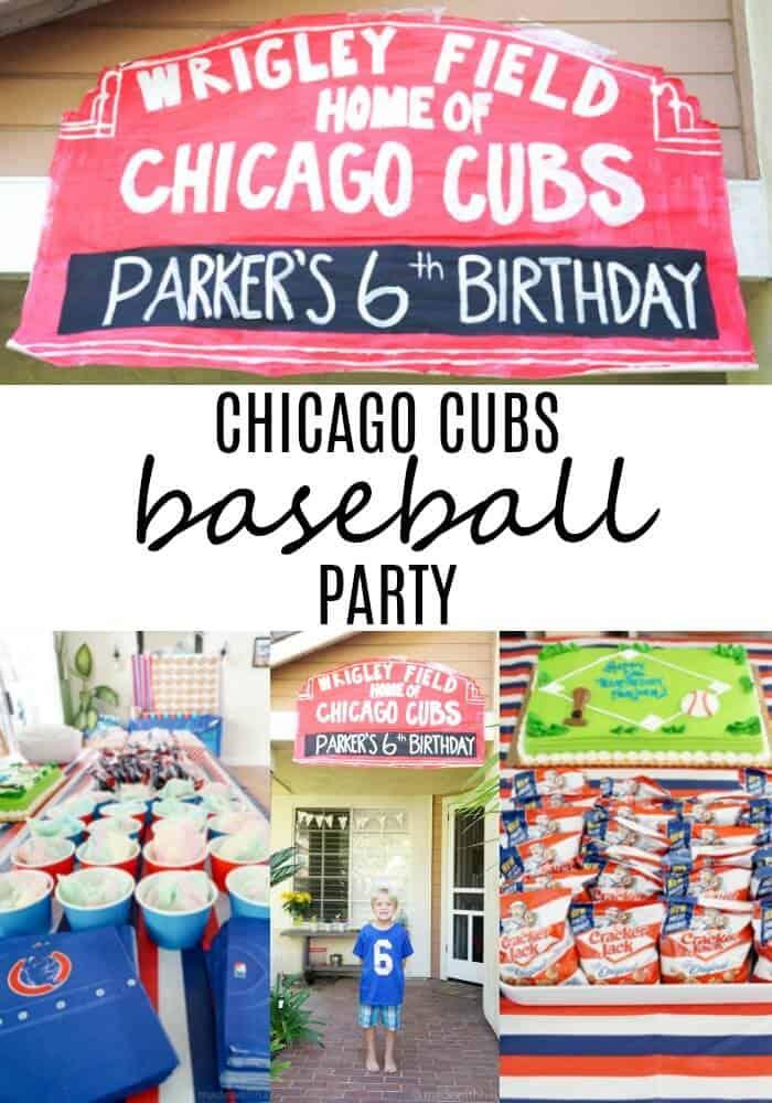 Cubs Baseball Party