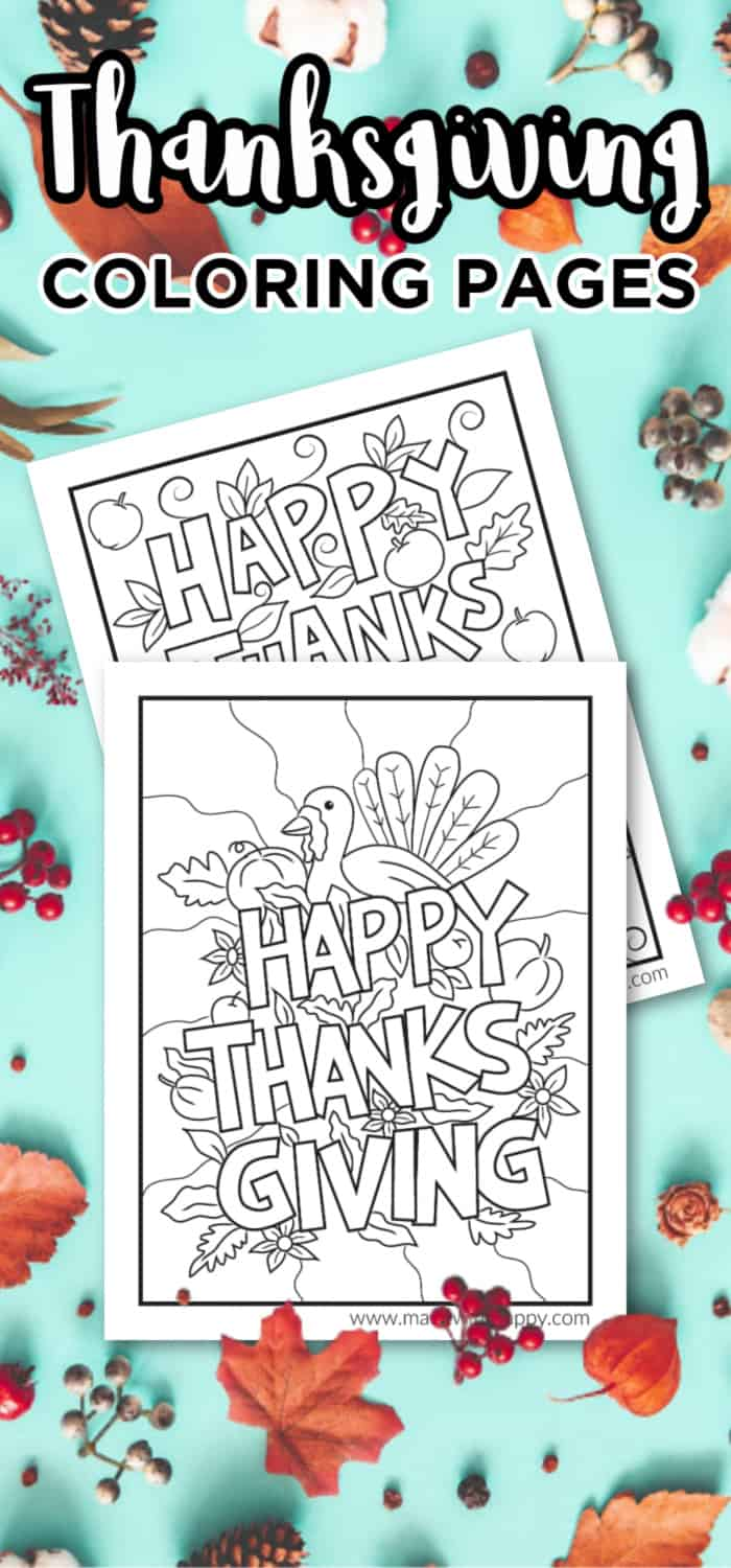 Kids Thanksgiving Coloring Sheets