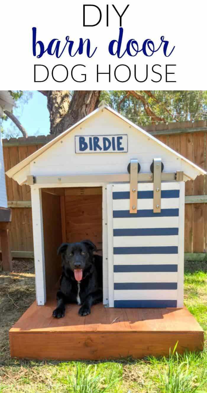 DIY Dog House. Make your own dog house with a barn door.