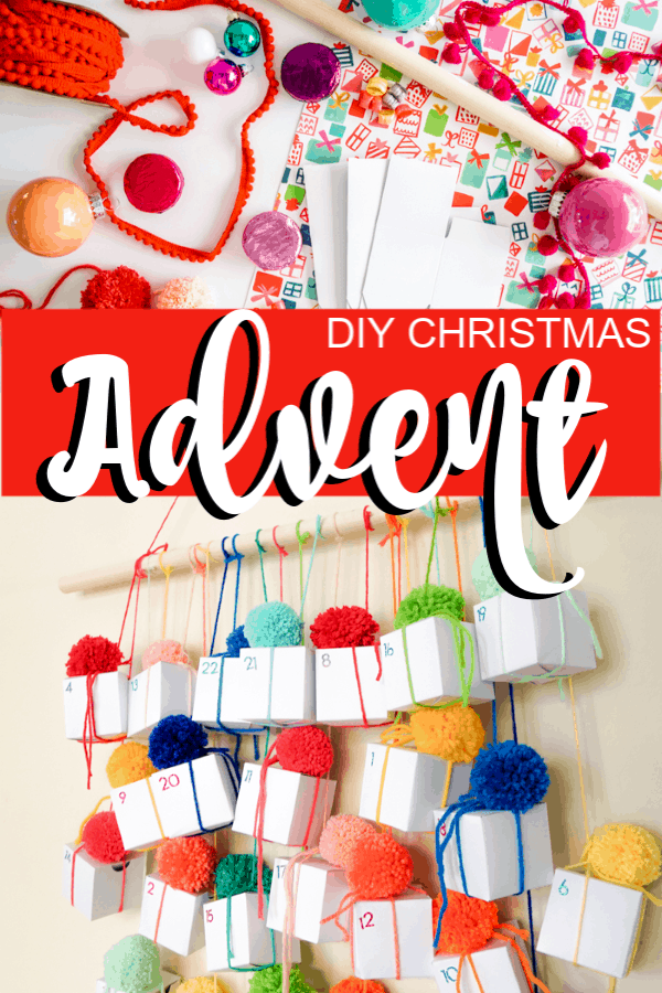 vertical image of a DIY Christmas Advent Calendar