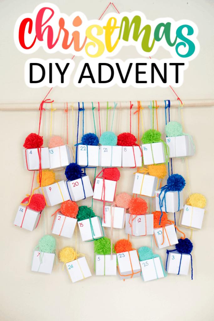 Colorful Christmas DIY Advent