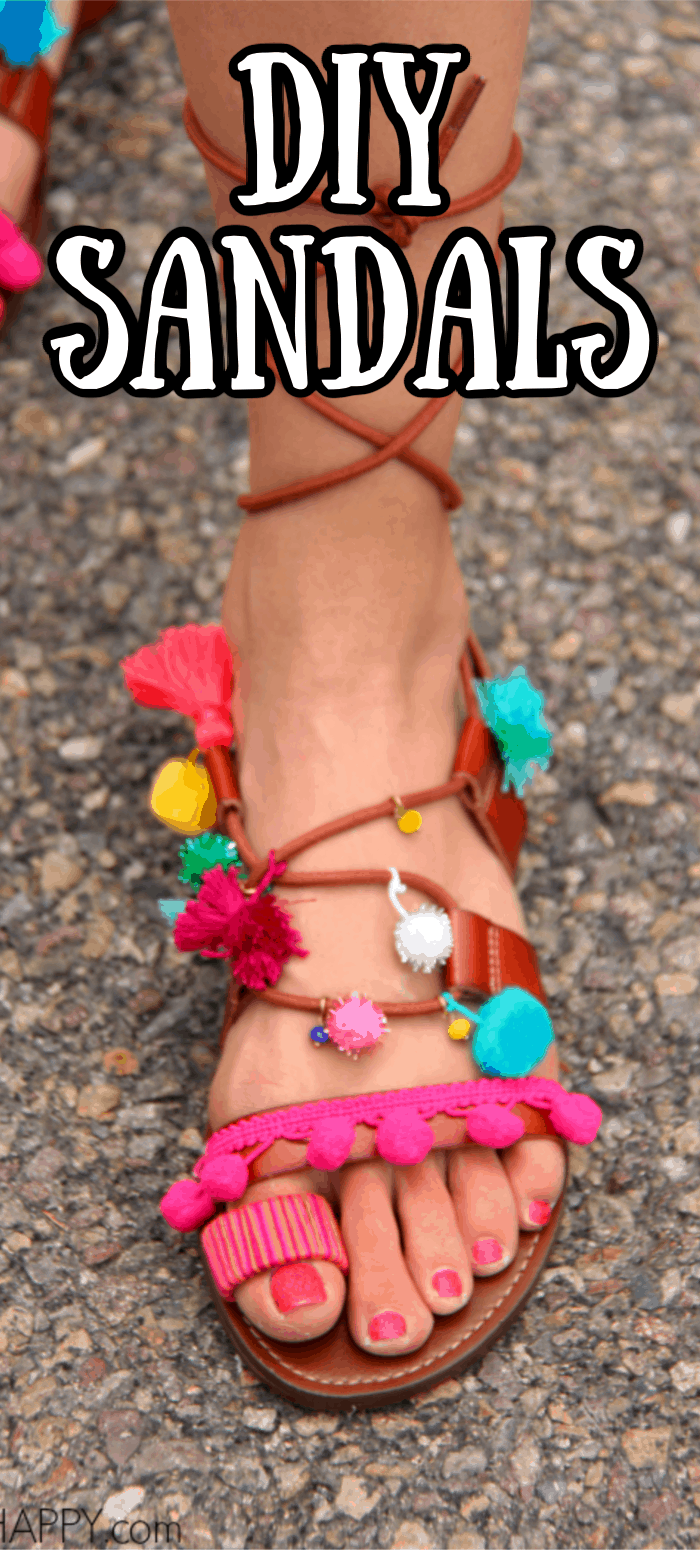 Colorful DIY Sandals