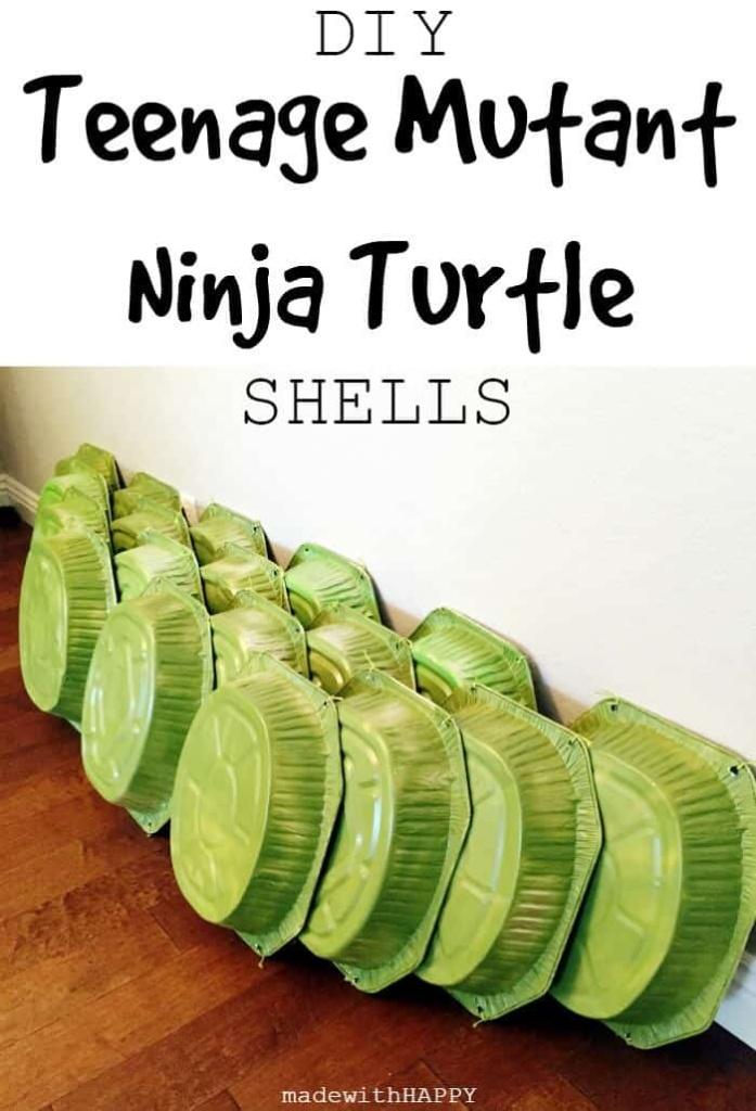 DIY Teenage Mutant Ninja Turtle Shells | TMNT Birthday Party Decorations | DIY TMNT Costume | www.madewithHAPPY.com
