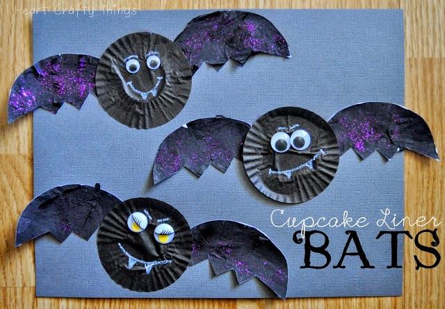 bat cupcake liners