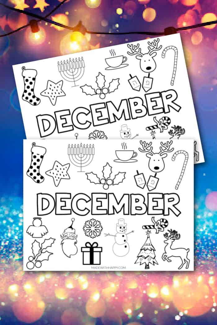 Printable December Pages