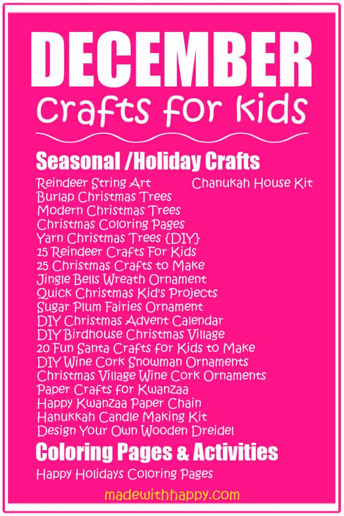 Crafts for December