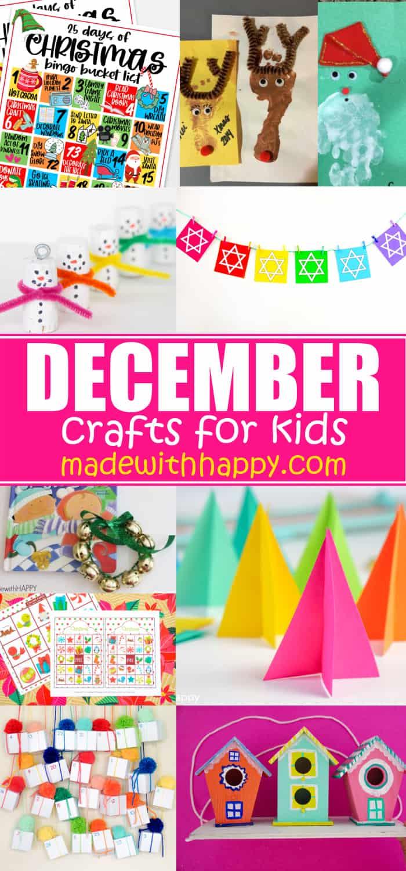 Kids crafts from December