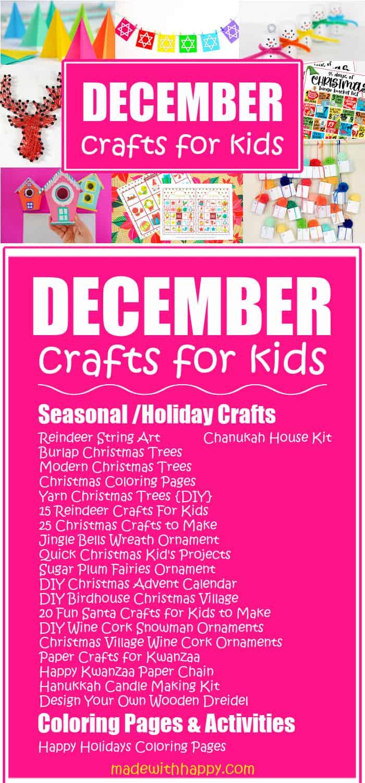 Crafts by month - December