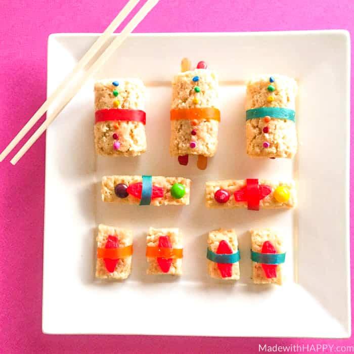 dessert sushi roll