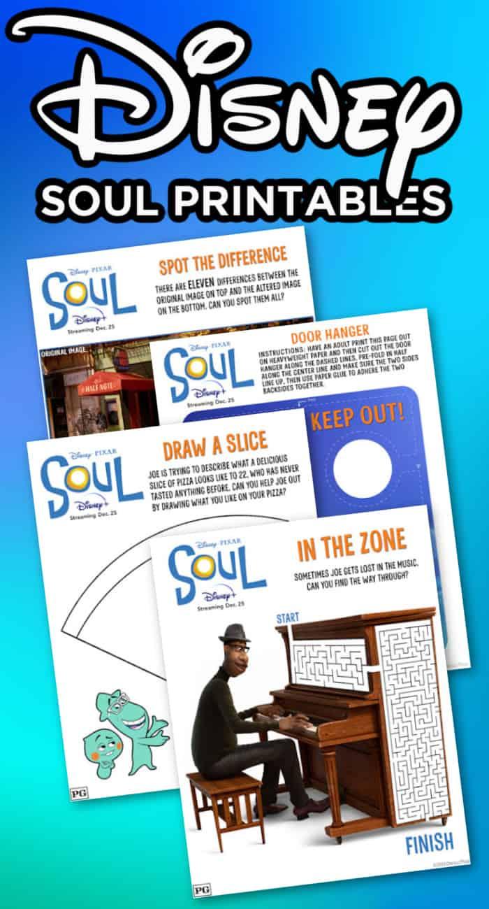 Disney Soul Movie Activities