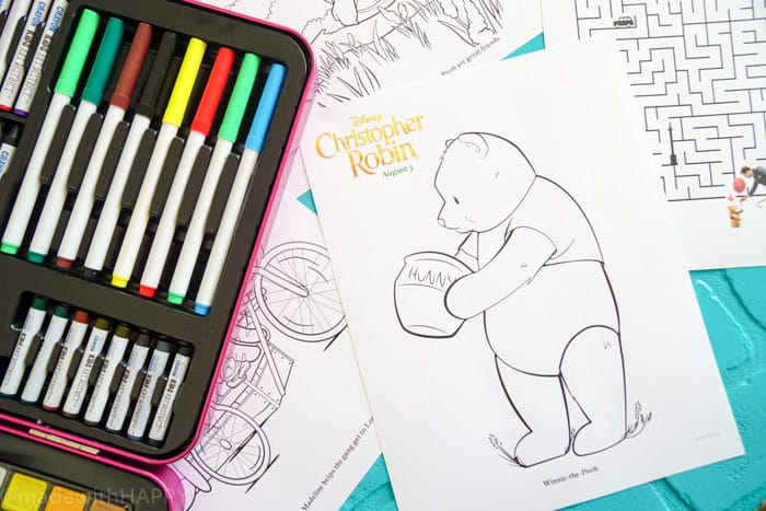 Winnie the Pooh Coloring Pages. Disney's Christopher Robin Movie Printable and Activity Sheets. Winnie the Pooh Party Decorations. Activity Ideas for Winnie the Pooh fans. Christopher Robin and the 100 acre woods. Pooh party ideas.