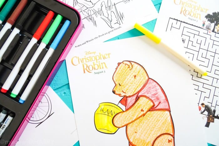 Winnie the Pooh and Tigger Coloring Pages. Disney's Christopher Robin Movie Printable and Activity Sheets. Winnie the Pooh Party Decorations. Activity Ideas for Winnie the Pooh fans. Christopher Robin and the 100 acre woods. Pooh party ideas.