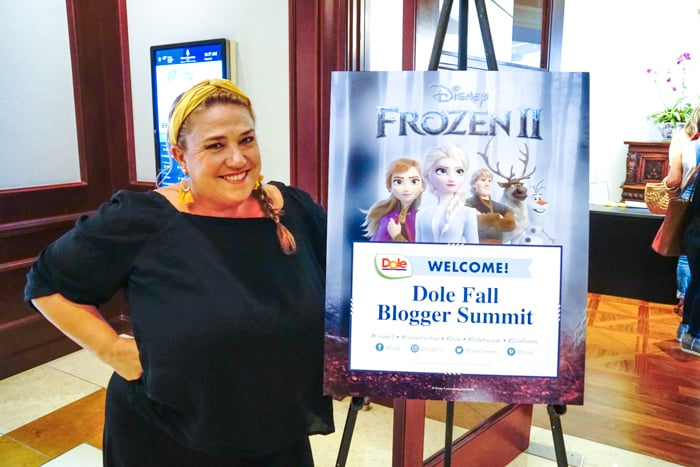 Dole Fall Blogger Summit Featuring Disney's Frozen 2. Frozen movie themed food ideas. Dole Recipe Ideas.