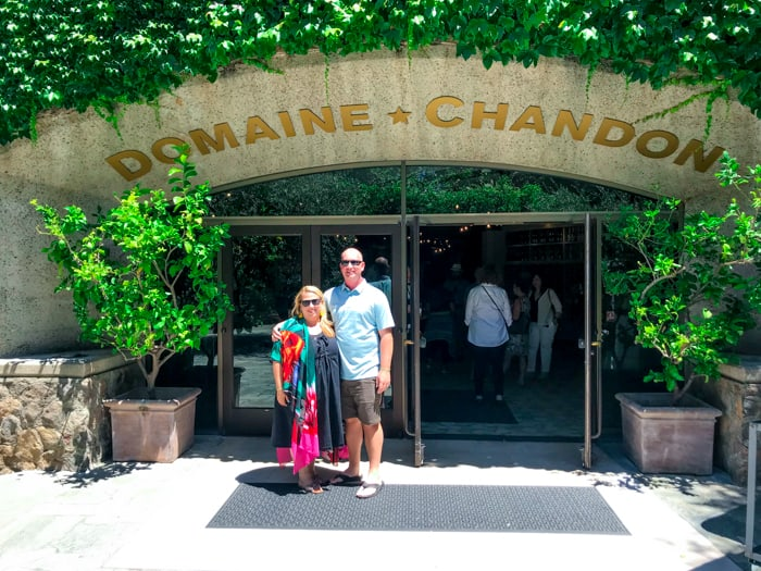 Domaine Chandon Winery. Delicious food, wine tasting, or seeing the sights of the Napa country side, the Napa Valley Wine Train is a great way to incorporate them all.