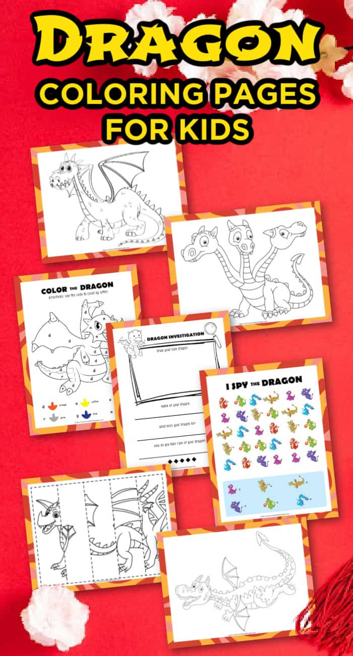 Printable Dragon Coloring Page For kIds