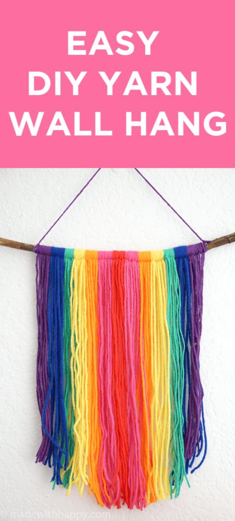 Easy DIY Yarn Wall Hang