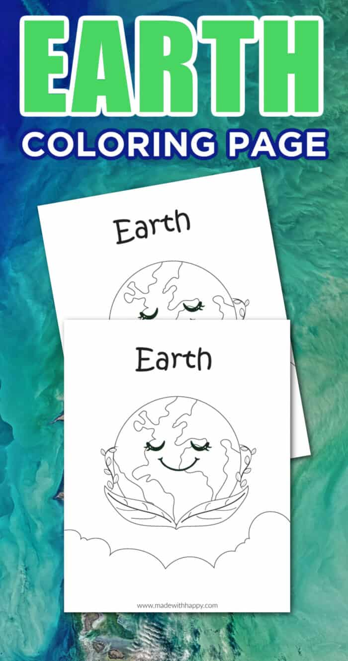 Coloring page for kids - Earth