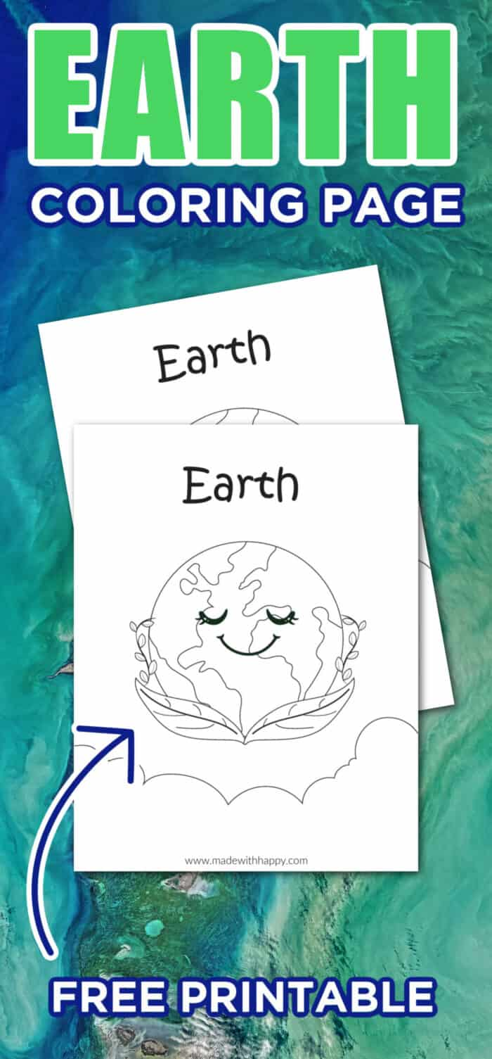 Earth Kids Coloring Page