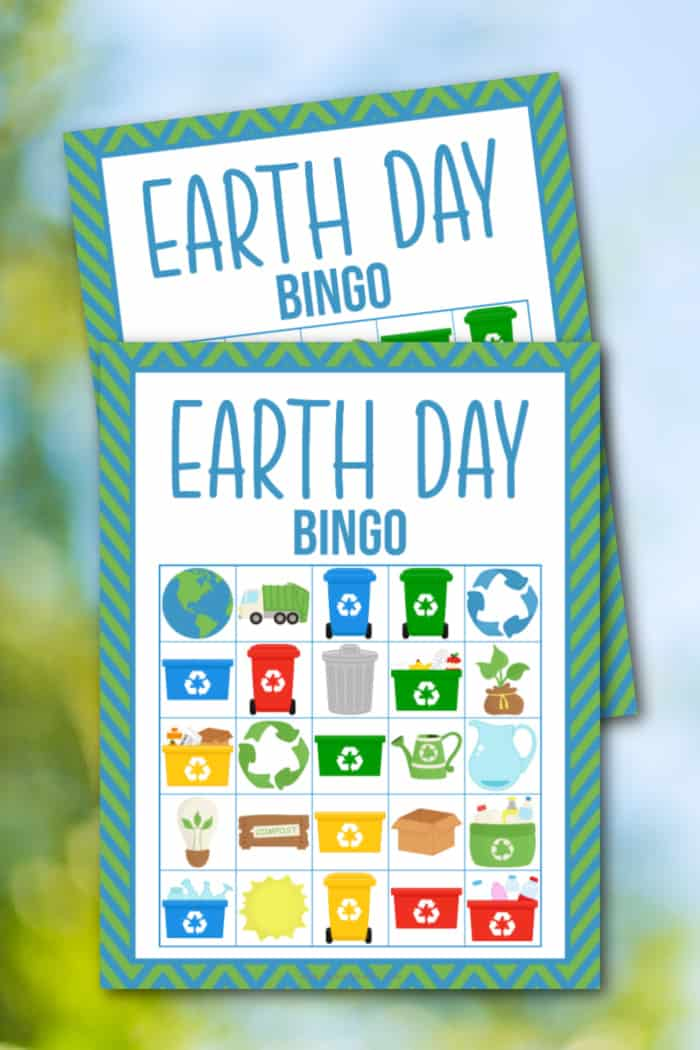 earth day bingo free printable