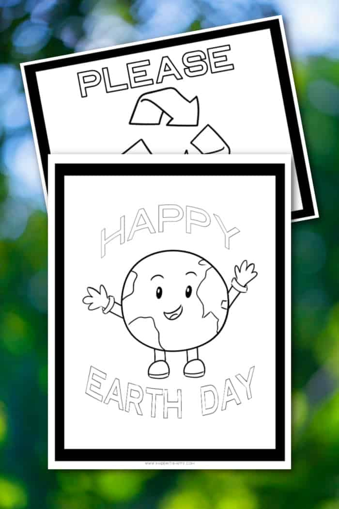 Free Happy Earth Day Coloring Pages - Made With HAPPY