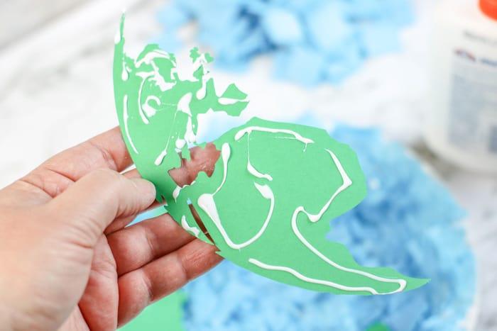 glue down paper map