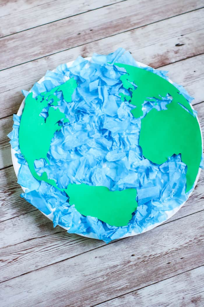 paper plate with world map
