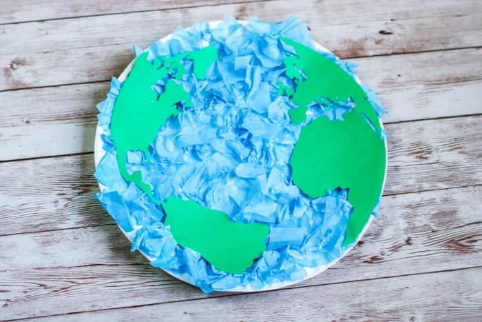 Paper Plate as Earth