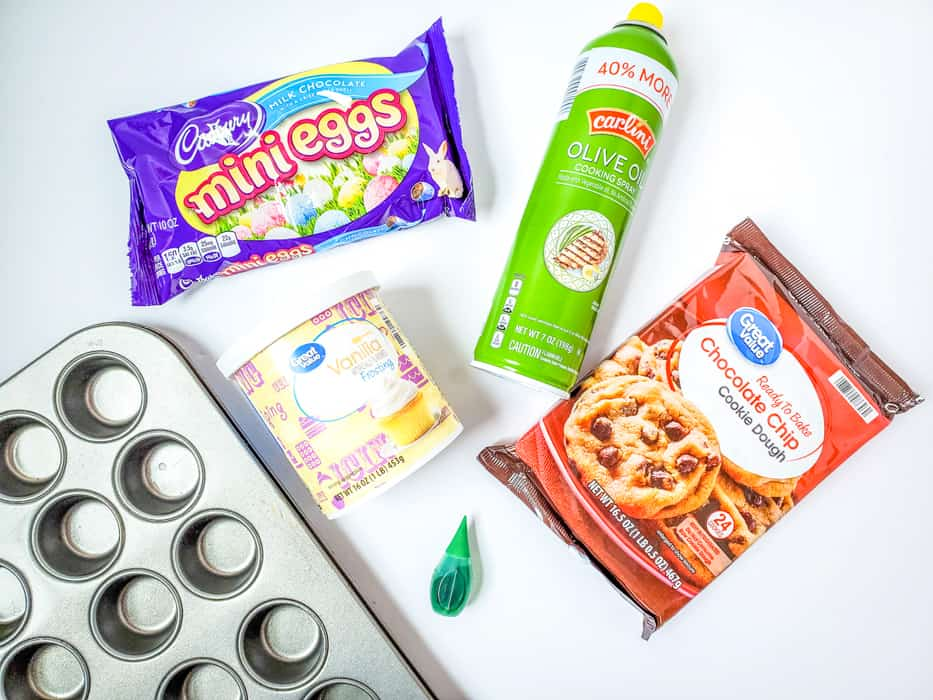 Ingredients for Cookie Cups