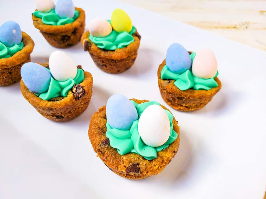 Adding Easter eggs to the top of your cookie cups