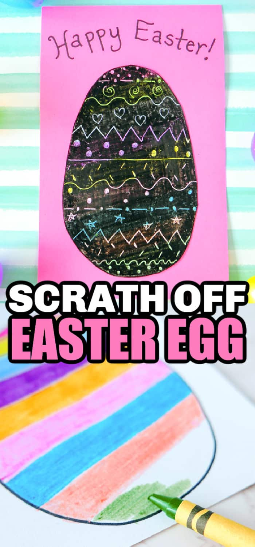 scratch off easter craft
