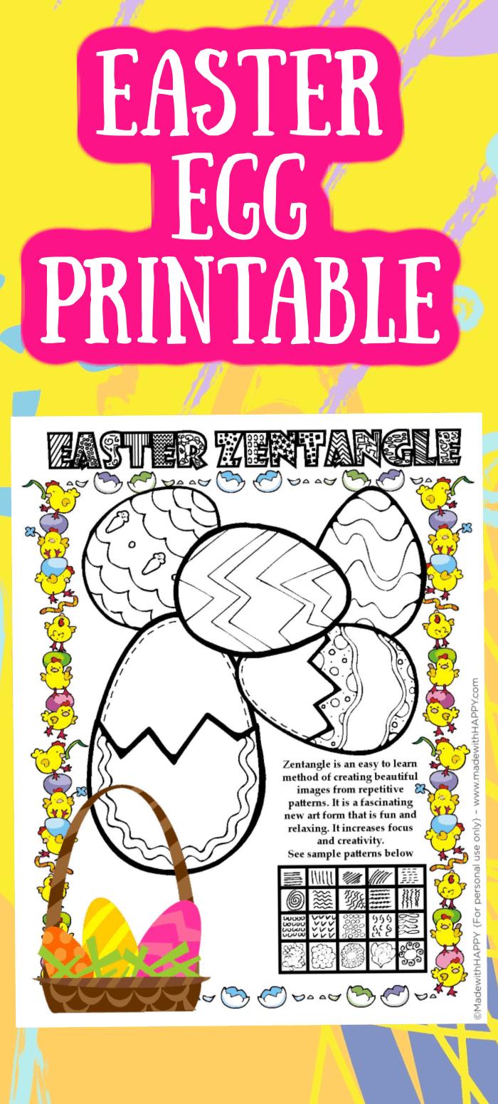Free Easter Egg Printable Patterns