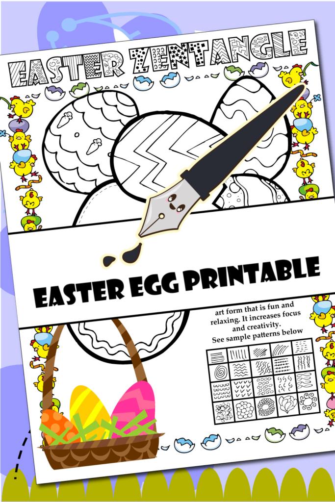 Easter Egg Printable Zantangle