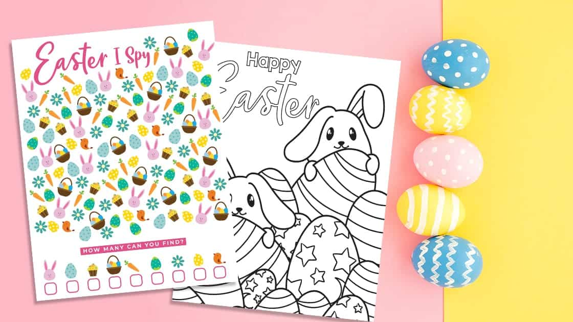 Easter I Spy and Coloring Pages