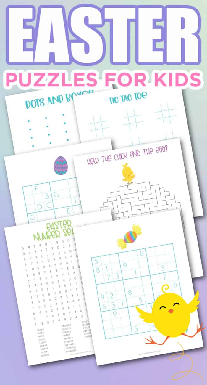 Easter math puzzles printable