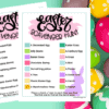 Printed Easter Scavenger Hunt for the Kids