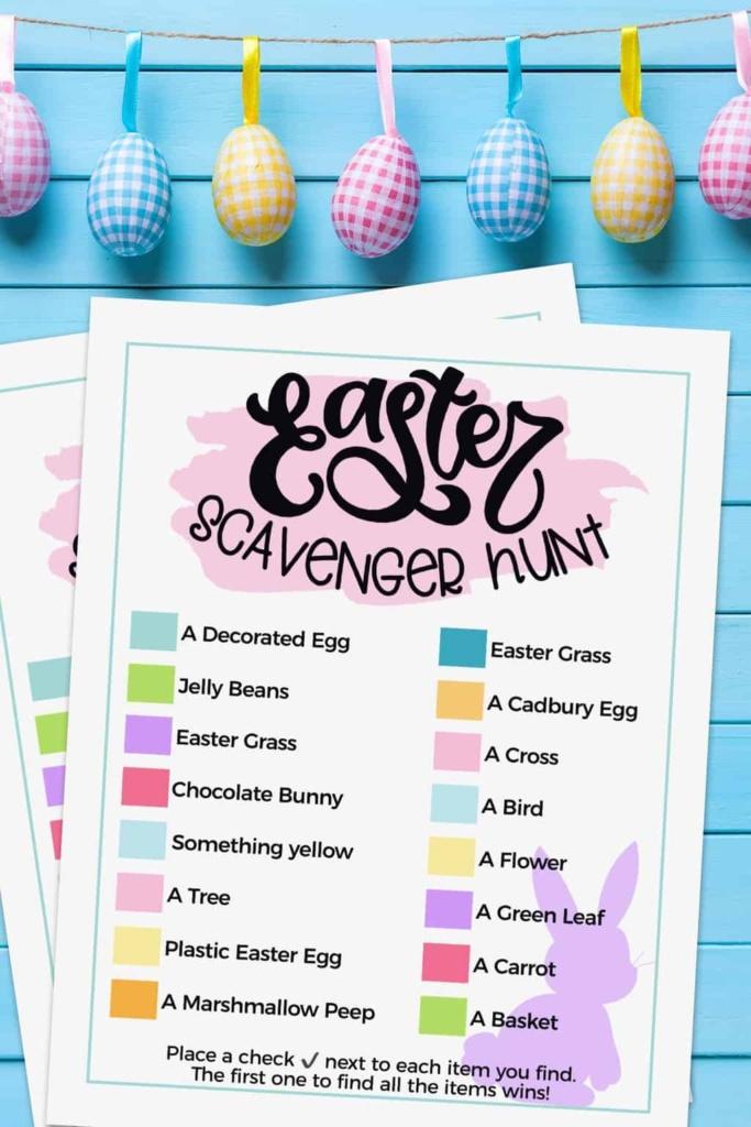Free Printable Easter Scavenger Hunt