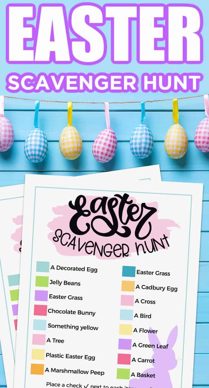 Free Easter Scavenger Hunt