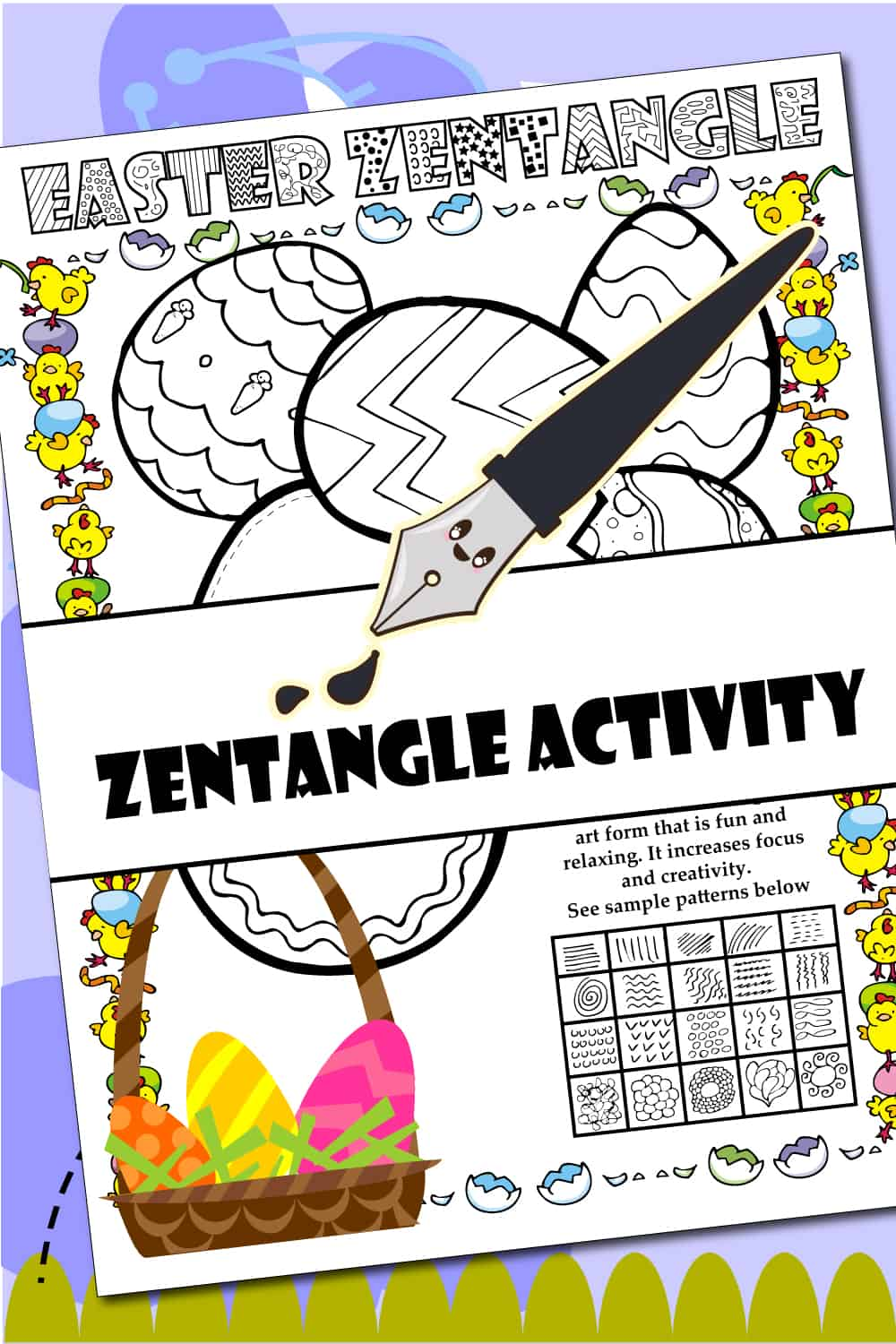 Easter Zentangle Activity