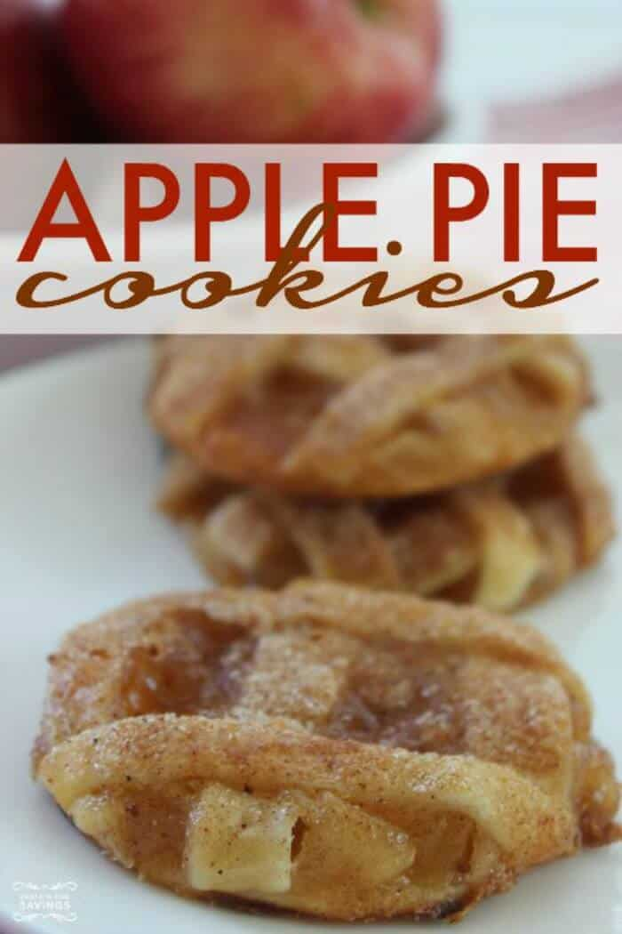 Apple Pie Cookies | 20+ Holiday Cookies | Christmas Cookie Recipes | www.madewithHAPPY.com