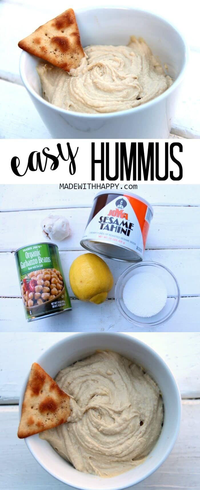 Easy to make Hummus | Simple ways to casual entertaining | Tips to entertaining with simple |  www.madewithHAPPY.com