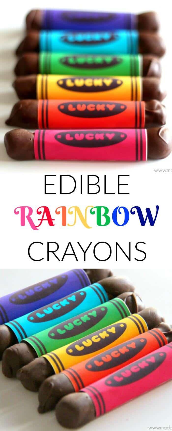 Edible Rainbow Crayons