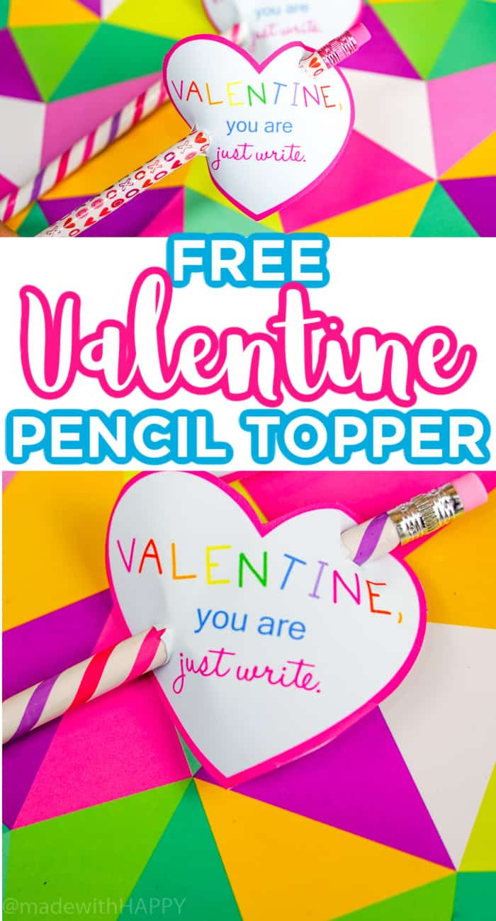 Valentines Pencil Topper