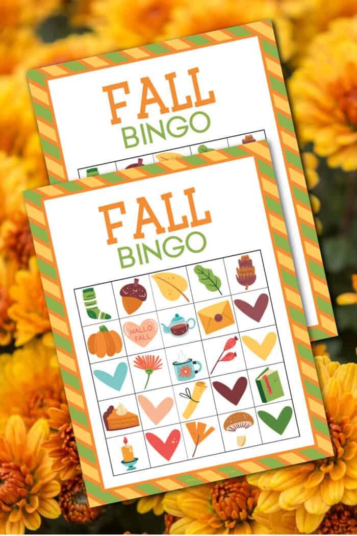 printable fall bingo cards full of autumn
