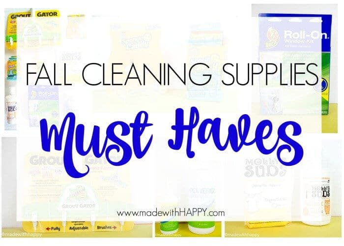Fall Cleaning Supplies Must Haves