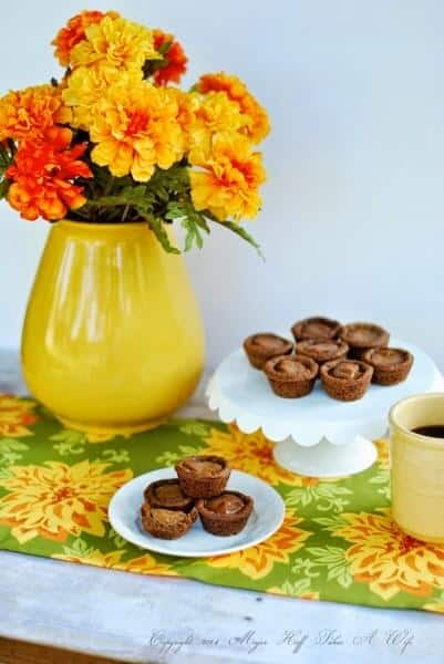 Fall flowers and sweets for coffee tea. Fall Craft Ideas. Fall Decor, Fall Inspiration, and Fall Recipes. Link party sharing all kinds of Fall Inspirations. Pumpkins and other decor.